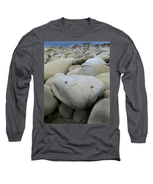 Happy Rock Long Sleeve T-Shirt by Joe  Palermo