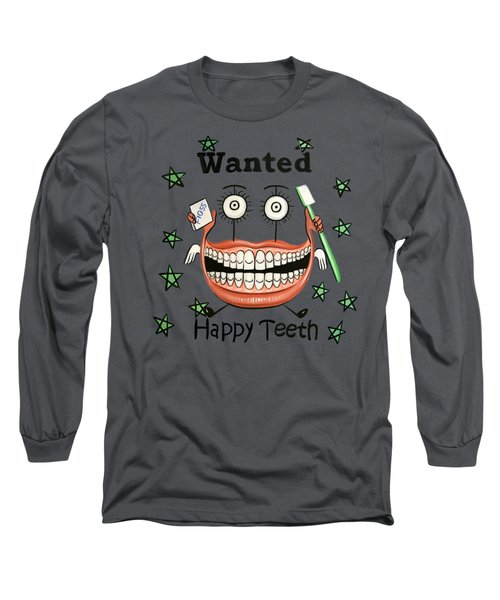 Happy Teeth T-shirt Long Sleeve T-Shirt