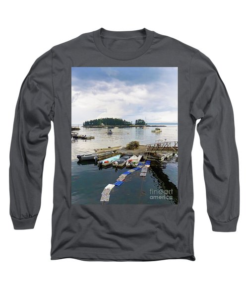 Harbor At Georgetown Five Islands, Georgetown, Maine #60550 Long Sleeve T-Shirt
