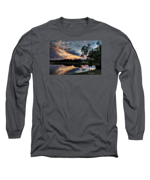 Harbor Reflections Long Sleeve T-Shirt by John Loreaux