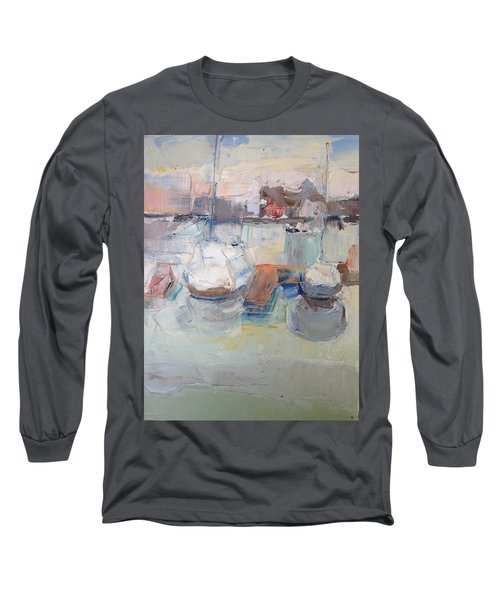Harbor Sailboats Long Sleeve T-Shirt