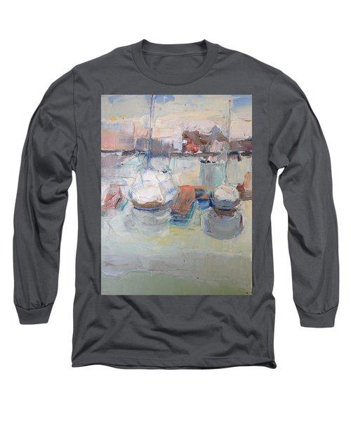 Harbor Sailboats Long Sleeve T-Shirt