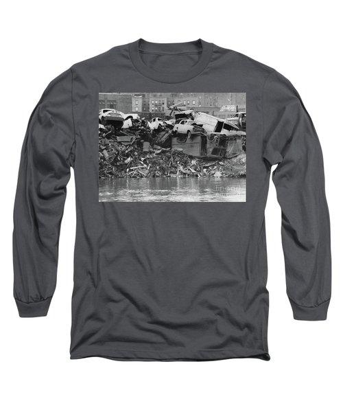 Harlem River Junkyard, 1967 Long Sleeve T-Shirt