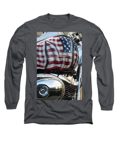 Harley Davidson 7 Long Sleeve T-Shirt by Wendy Wilton