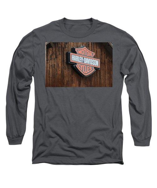 Harley Davidson Sign In West Jordan Utah Photograph Long Sleeve T-Shirt