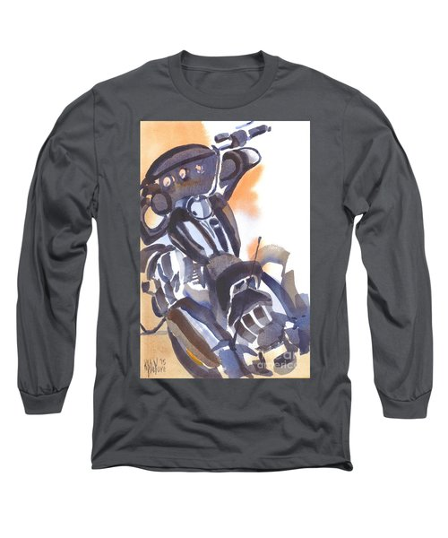 Long Sleeve T-Shirt featuring the painting Motorcycle Iv by Kip DeVore