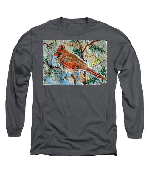 Long Sleeve T-Shirt featuring the mixed media Harmony by Li Newton