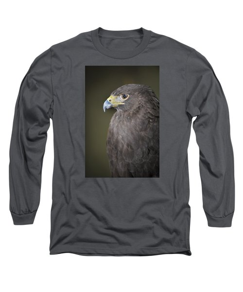 Long Sleeve T-Shirt featuring the photograph Harris Hawk by Tyson and Kathy Smith