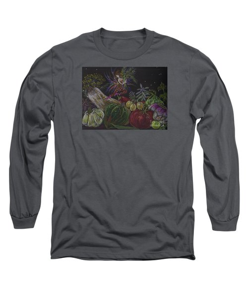 Long Sleeve T-Shirt featuring the drawing Harvest by Dawn Fairies
