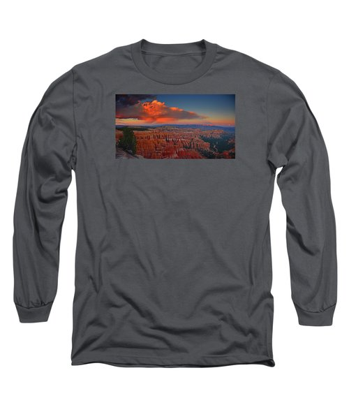 Harvest Moon Over Bryce National Park Long Sleeve T-Shirt by Raymond Salani III