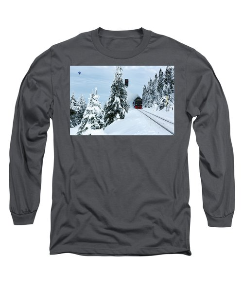 Harz Ballooning And Brocken Railway Long Sleeve T-Shirt by Andreas Levi