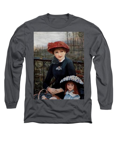 Long Sleeve T-Shirt featuring the painting Hat Sense by Judy Kirouac