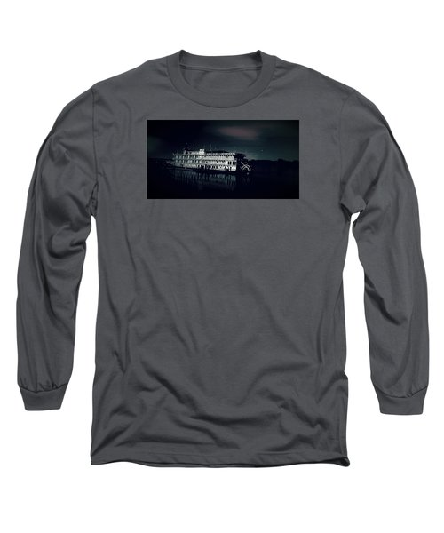 Haunted Dinner Cruise On The Columbia River  Long Sleeve T-Shirt by Lisa Kaiser