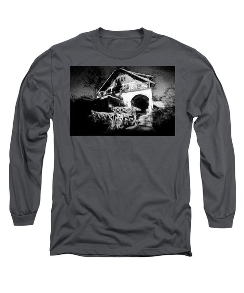 Haunted House Long Sleeve T-Shirt by Celso Bressan