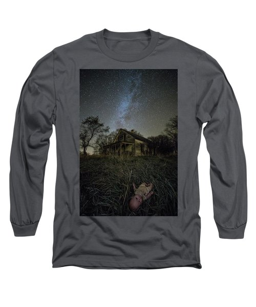 Long Sleeve T-Shirt featuring the photograph Haunted Memories by Aaron J Groen