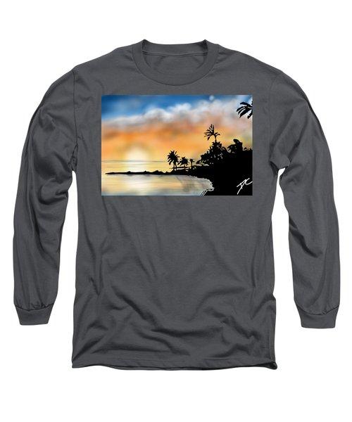 Hawaii Beach Long Sleeve T-Shirt by Darren Cannell