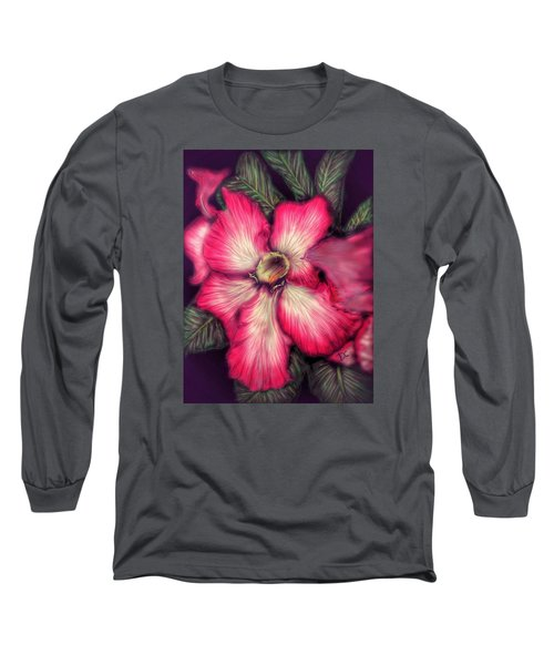 Hawaii Flower Long Sleeve T-Shirt by Darren Cannell