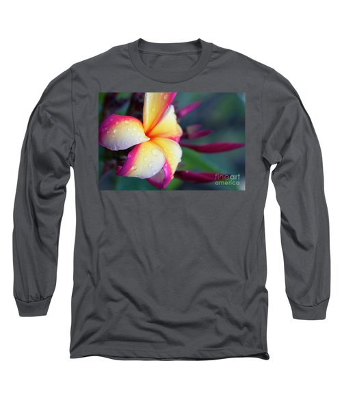 Long Sleeve T-Shirt featuring the photograph Hawaii Plumeria Flower Jewels by Sharon Mau