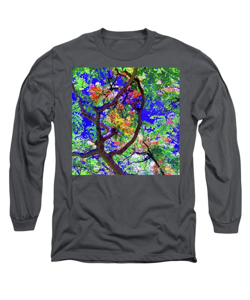 Hawaii Shower Tree Flowers In Abstract Long Sleeve T-Shirt