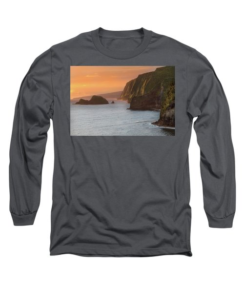 Hawaii Sunrise At The Pololu Valley Lookout 2 Long Sleeve T-Shirt