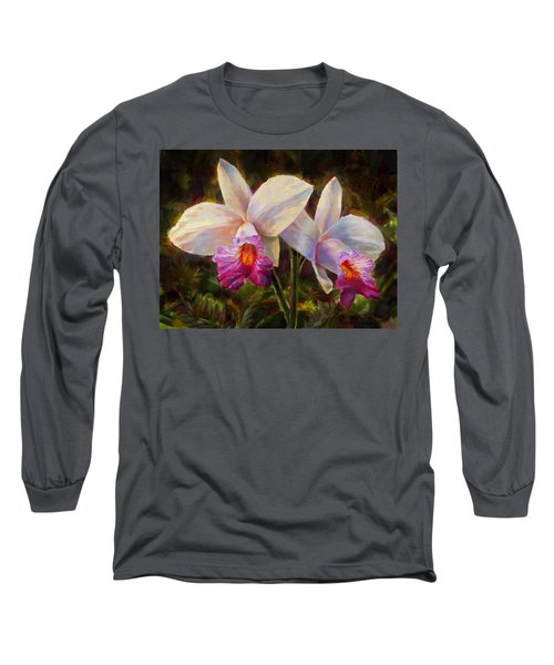 Hawaiian Bamboo Orchid Long Sleeve T-Shirt