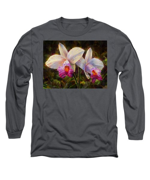 Hawaiian Bamboo Orchid Long Sleeve T-Shirt