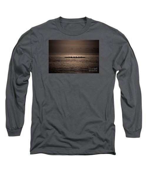 Long Sleeve T-Shirt featuring the photograph Hawaiian Outrigger by Kelly Wade