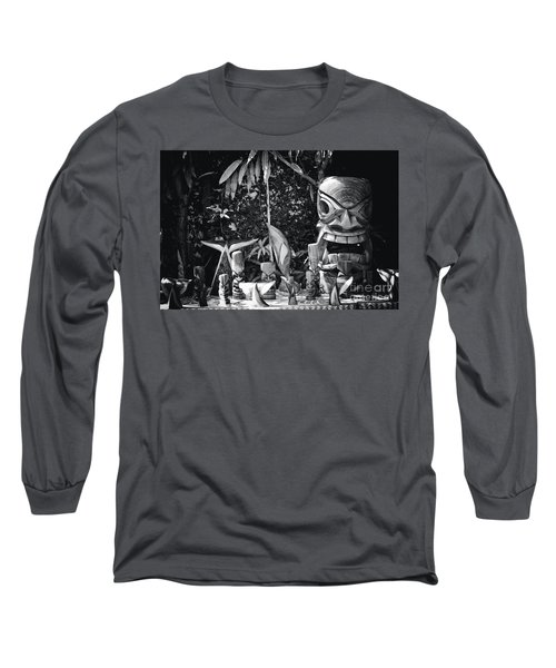Long Sleeve T-Shirt featuring the photograph Hawaiian Tiki Carvings by Sharon Mau