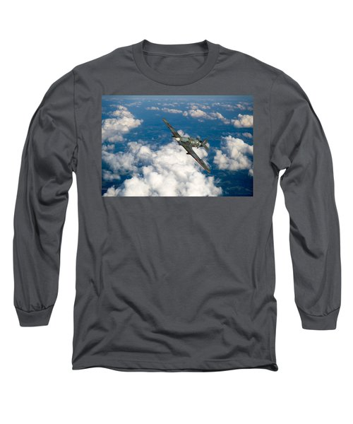 Long Sleeve T-Shirt featuring the photograph Hawker Hurricane IIb Of 174 Squadron by Gary Eason
