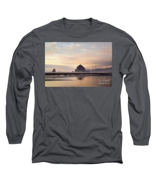 Haystack Rock After The Rain Long Sleeve T-Shirt