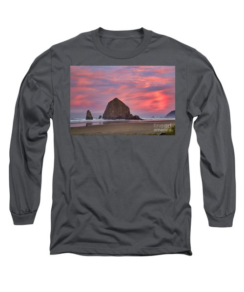 Haystack Rock- First Light Long Sleeve T-Shirt