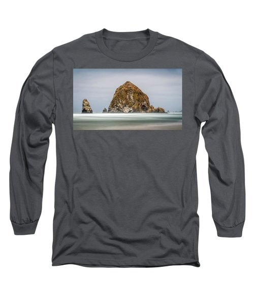 Long Sleeve T-Shirt featuring the photograph Haystack Rock Oregon by Pierre Leclerc Photography