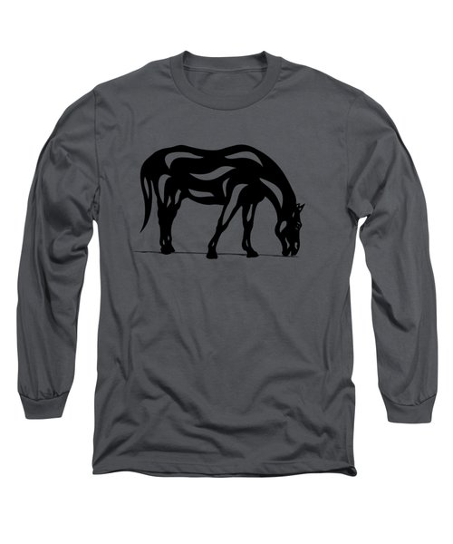 Hazel - Abstract Horse Long Sleeve T-Shirt