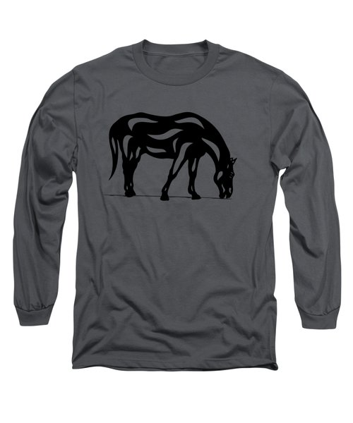 Hazel - Abstract Horse Long Sleeve T-Shirt