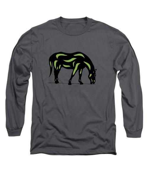Hazel - Pop Art Horse - Black, Greenery, Purple Long Sleeve T-Shirt