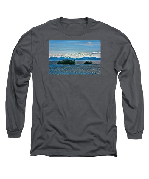 Hazy Alaskan Morning Long Sleeve T-Shirt by Lewis Mann