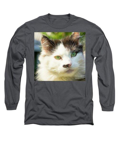Head Of Cat Long Sleeve T-Shirt