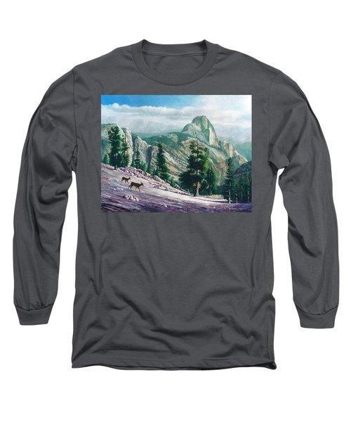 Heading Down Long Sleeve T-Shirt by Douglas Castleman