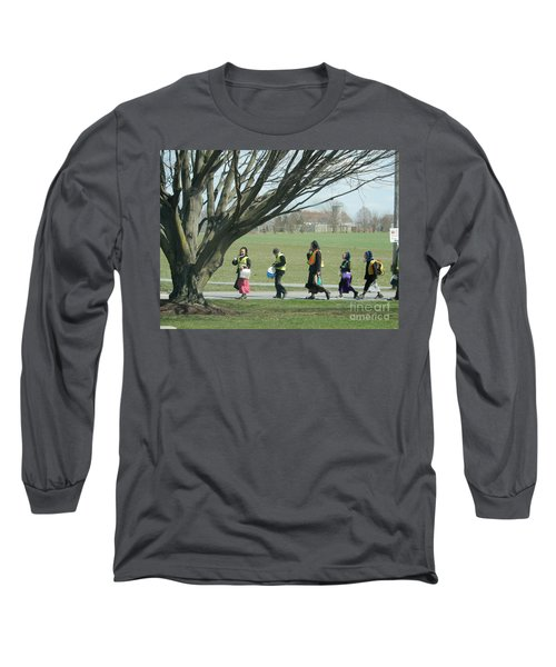 Heading Home From School Long Sleeve T-Shirt