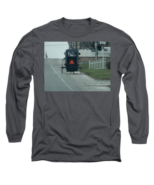 Heading Home From The Store Long Sleeve T-Shirt