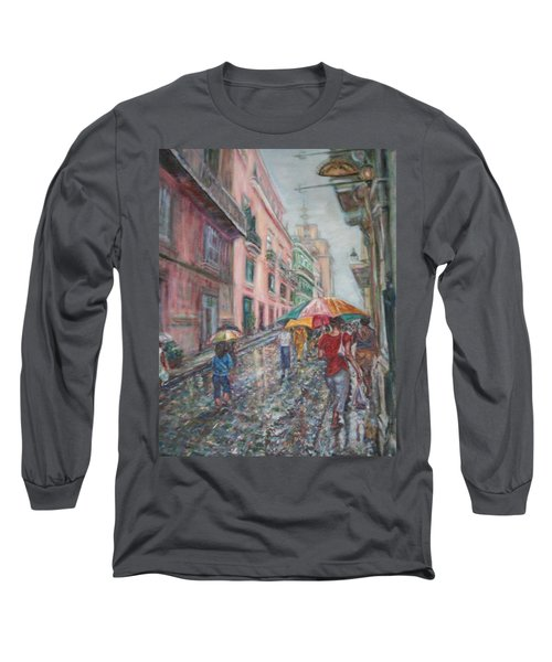 Heading Home In Havava Long Sleeve T-Shirt by Quin Sweetman