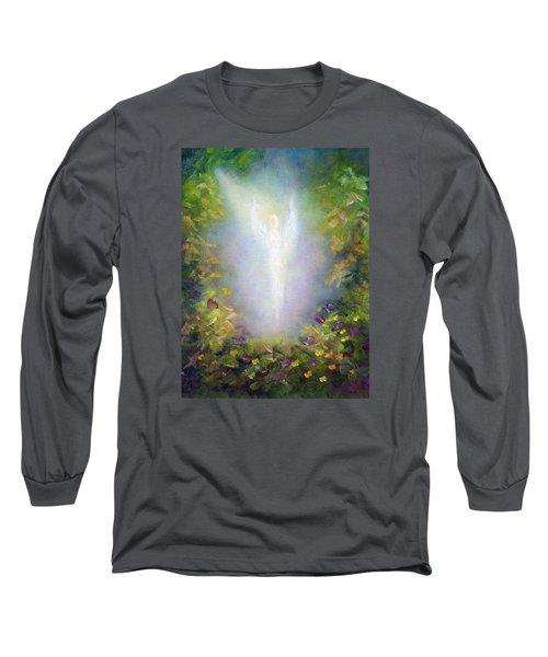 Healing Angel Long Sleeve T-Shirt by Marina Petro
