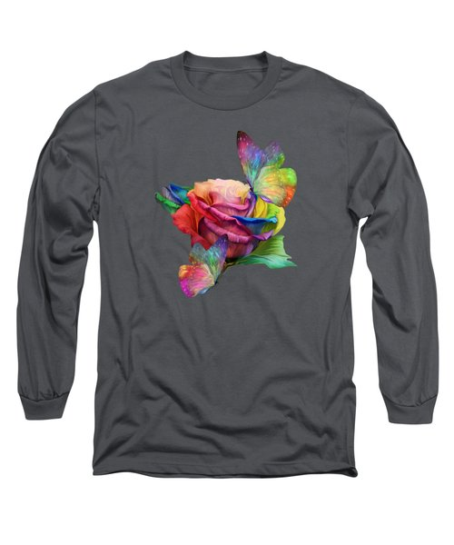 Healing Rose Long Sleeve T-Shirt by Carol Cavalaris