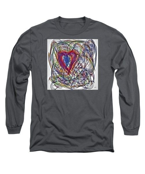 Heart In Motion Abstract Long Sleeve T-Shirt