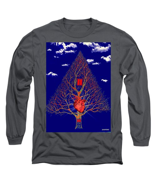 Heart Is The Abode Of The Spirit Long Sleeve T-Shirt by Paulo Zerbato