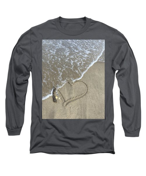 Heart Lost Long Sleeve T-Shirt by Arlene Carmel