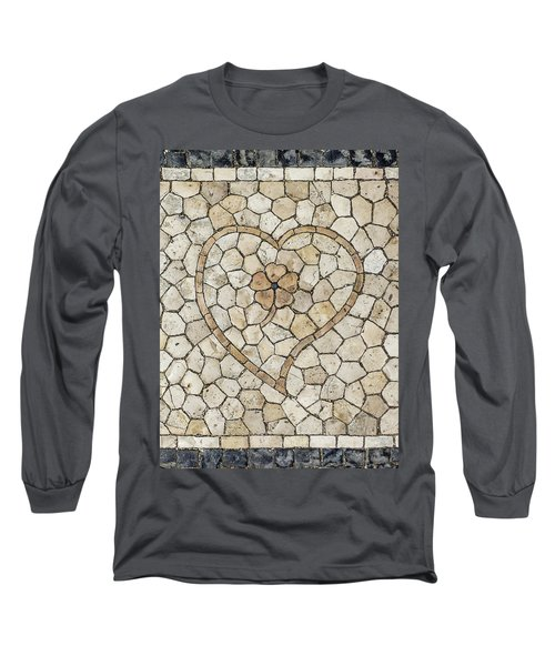 Heart Shaped Traditional Portuguese Pavement Long Sleeve T-Shirt