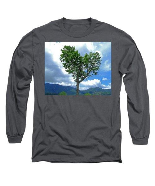 Heart Shaped Tree Long Sleeve T-Shirt