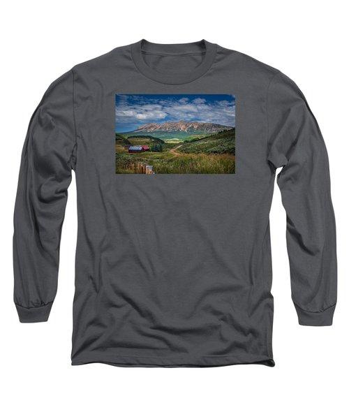 Heartland Of The Colorado Rockies Long Sleeve T-Shirt by Michael J Bauer