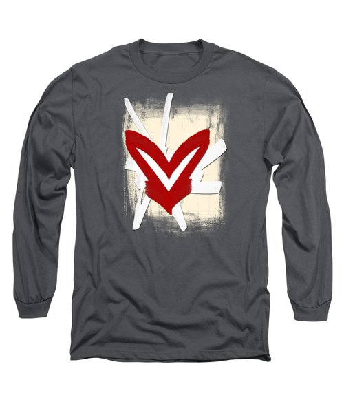 Hearts Graphic 5 Long Sleeve T-Shirt
